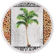 Exotic Palms 1 Round Beach Towel