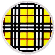 Expanding Plaid Round Beach Towel