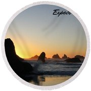 Expect Miracles Round Beach Towel
