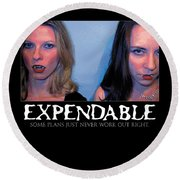 Expendable 15 Round Beach Towel