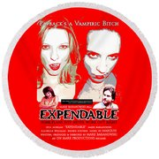 Expendable Poster Round Beach Towel