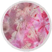 Exploflora Series No. 2 Round Beach Towel