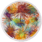 Exploflora Series Number 4 Round Beach Towel