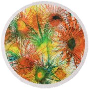 Exploflora Series Number 5 Round Beach Towel