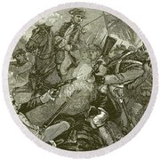 Exploits Of Benedict Arnold Round Beach Towel