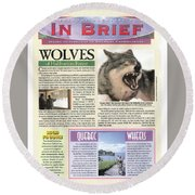 Explore Magazine - Wolves Article Round Beach Towel