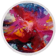 Exploring Forms Round Beach Towel