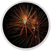 Round Beach Towel featuring the photograph Explosion by Broderick Delaney