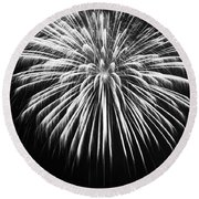 Explosion Round Beach Towel by Colleen Coccia