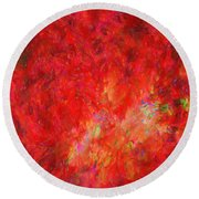 Explosion In Watercolor Round Beach Towel