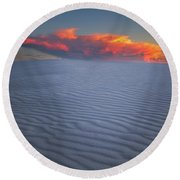 Explosion Of Colors Round Beach Towel
