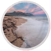 Explosion Of Colors On The Beach Round Beach Towel