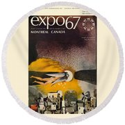 Expo 67 Round Beach Towel by Andrew Fare