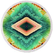 Round Beach Towel featuring the photograph Exponential Flare by Colleen Taylor