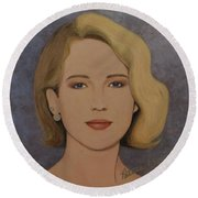 Exquisite - Jennifer Lawrence Round Beach Towel