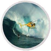 Extreme Surfing Hawaii 6 Round Beach Towel