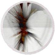 Round Beach Towel featuring the digital art Sculptural Series Painting 51.072110windblscext1590l10110l by Kris Haas
