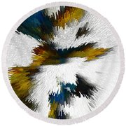 Round Beach Towel featuring the digital art Sculptural Series Digital Painting 612.102310extrusion by Kris Haas