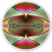 Round Beach Towel featuring the photograph Eye C U  by Tony Beck