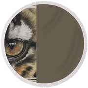 Eye-catching Clouded Leopard Round Beach Towel