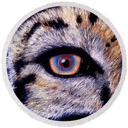 Eye Of A Tiger Round Beach Towel