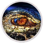 Eye Of The Apex Round Beach Towel