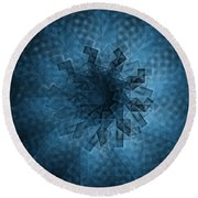 Eye Of The Crystal Round Beach Towel