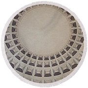 Wide View Of A Dome Round Beach Towel