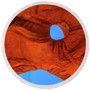 Eye Of The Eagle Round Beach Towel
