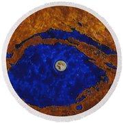 Eye Of The Moon Round Beach Towel