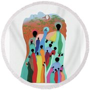 Eye Of The Spirit Round Beach Towel