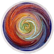 Round Beach Towel featuring the photograph Eye Of The Storm by Sue Melvin