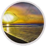 Round Beach Towel featuring the photograph Eye Of The Sun by Scott Carruthers