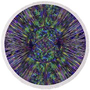 Eye Of The Universe Round Beach Towel