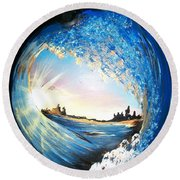 Eye Of The Wave Round Beach Towel