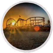Eye Of The Wheel Round Beach Towel