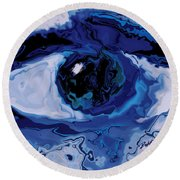 Eye Round Beach Towel by Rabi Khan