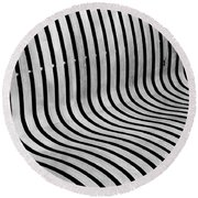 Eye Ride - Illusion  Round Beach Towel