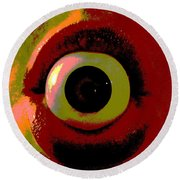 Eye See You  Round Beach Towel