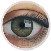 Eye - The Window Of The Soul Round Beach Towel