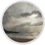 Eye To Eye Round Beach Towel