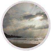 Eye To Eye Round Beach Towel by Alex Lapidus