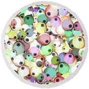 Round Beach Towel featuring the digital art Eyeballs by Methune Hively