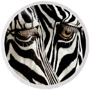 Eyes And Stripes Forever Round Beach Towel