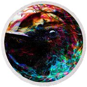 Round Beach Towel featuring the digital art Eyes Of The World by Jason Hanson