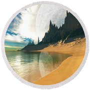 Eyes Of Zeus Round Beach Towel