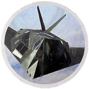 Round Beach Towel featuring the photograph F-117 Stinkbug  by JC Findley