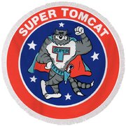 F-14 Super Tomcat Round Beach Towel