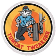 F-14 Tomcat Tweakers Round Beach Towel