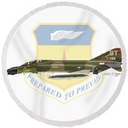 F-4d Phantom Bitburg Round Beach Towel by Arthur Eggers